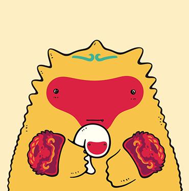 火龙君与白蛇丸/猴年年货用品设计